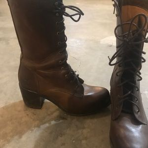 COPY - Frye lace up heeled combat boots,